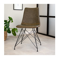 Industrial dining chair Jace Green