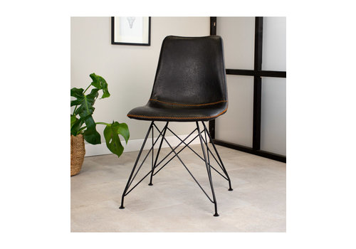 Industrial dining chair Jace Black