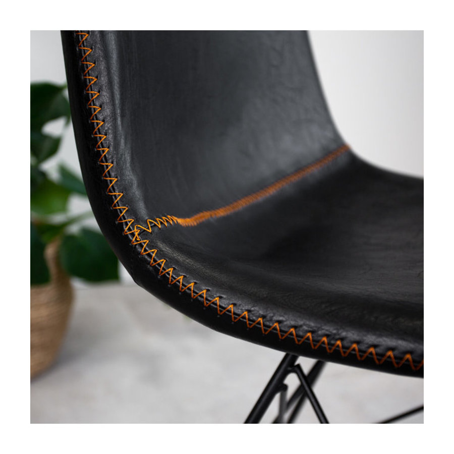 Industrial dining chair Jace Premium Black