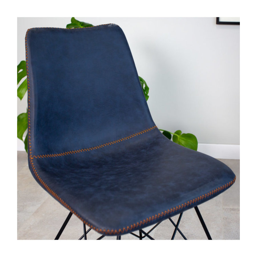Industrial dining chair Jace Blue