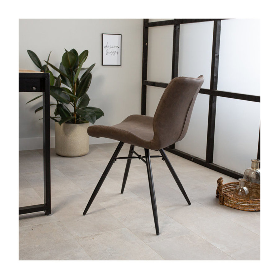 Industrial Dining Chair Barron Taupe