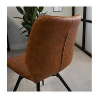 Industrial Dining Chair Barron Cognac