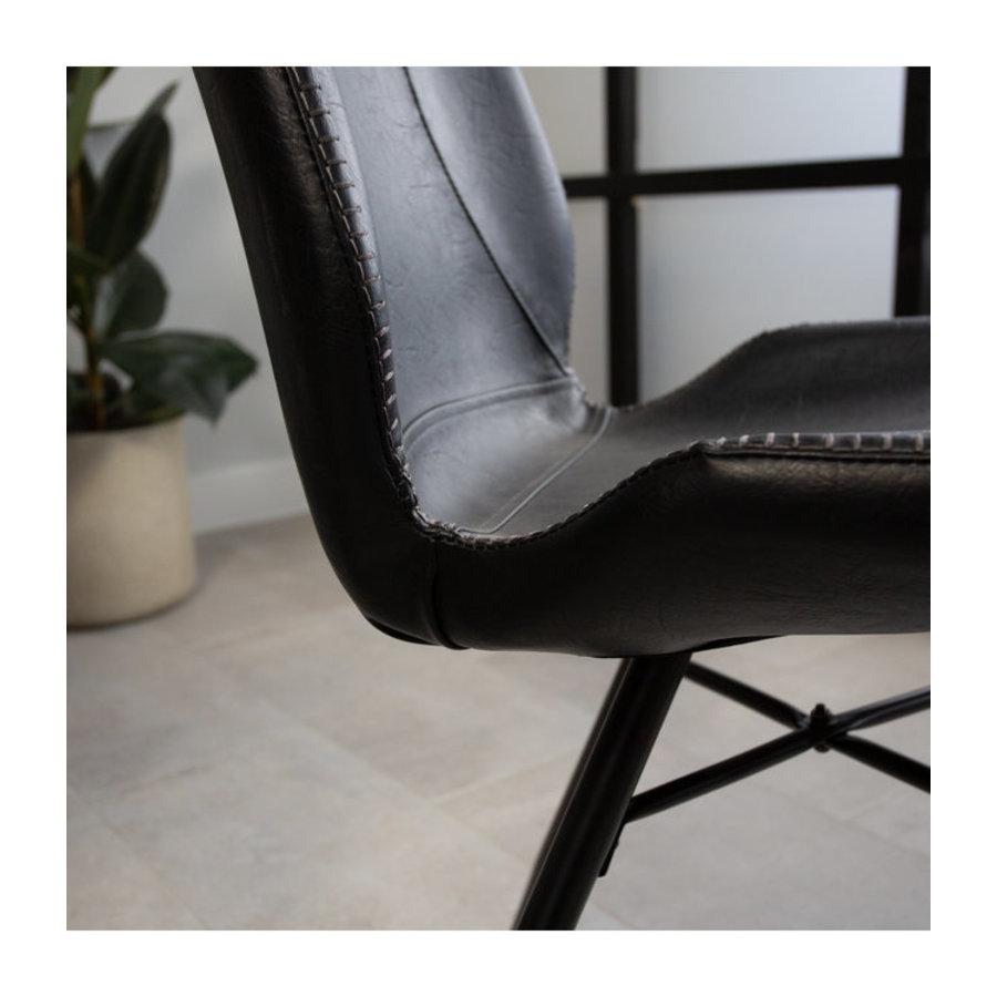 Industrial Dining Chair Barron Black