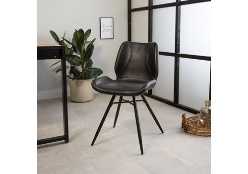 Industrial Dining Chair Barron Black