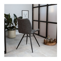 Industrial Dining Chair Barron Anthracite
