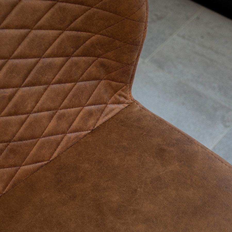 Industrial Dining Chair Grayson Cognac