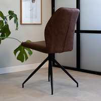 Industrial Dining Chair Grayson Brown