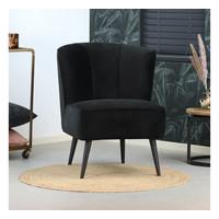 Velvet armchair Lyla black