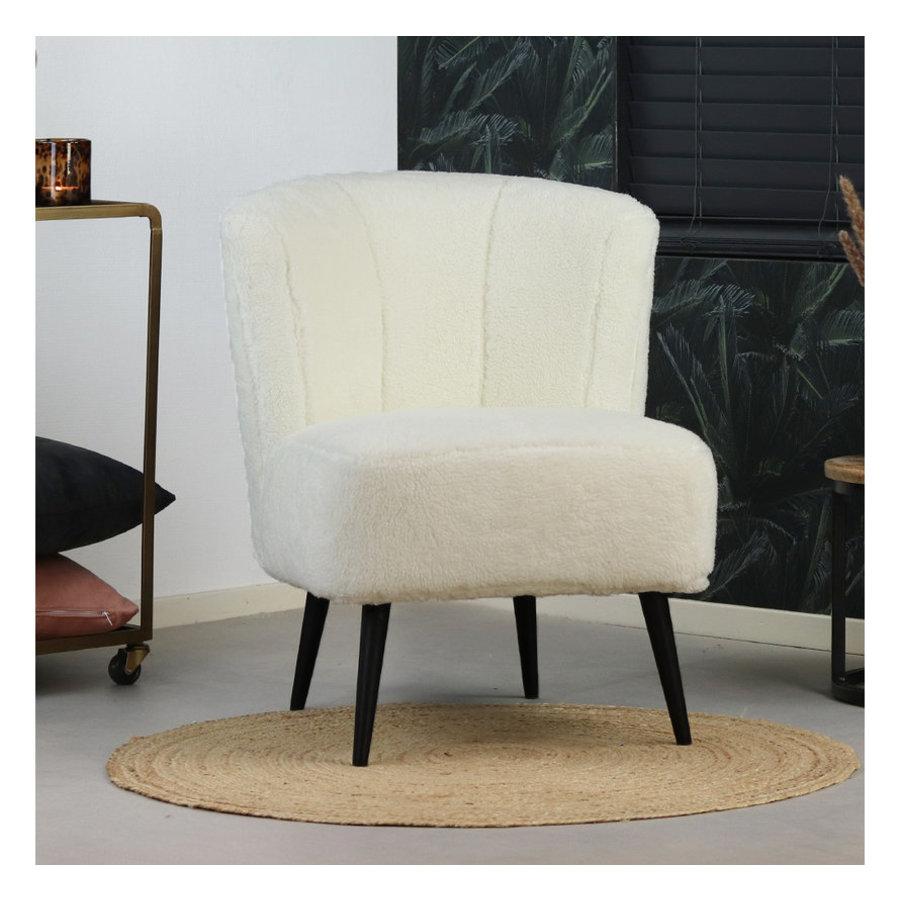 Teddy armchair Lyla white