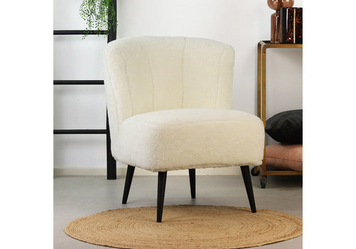 Teddy armchair Lyla white