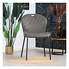 Industrial dining chair Fay Anthracite leather