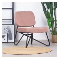 Velvet armchair Julia Pink