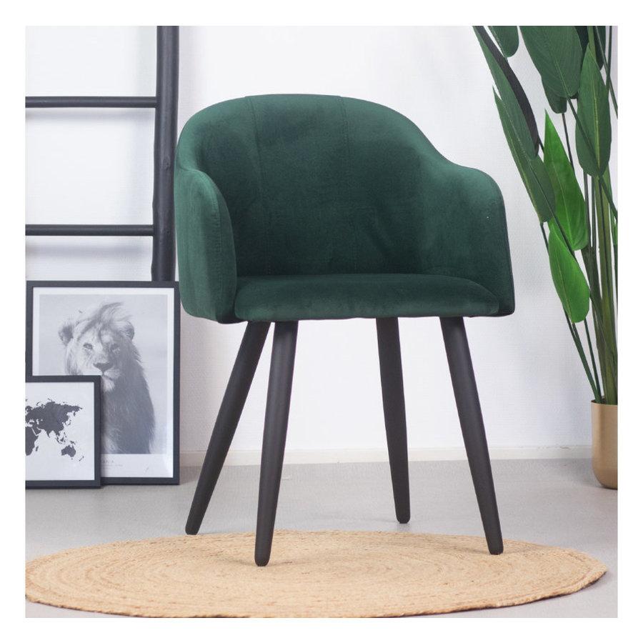 Velvet dining chair Leroy Green