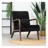 Velvet armchair Bibi Black