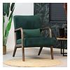 Velvet armchair Bibi Green