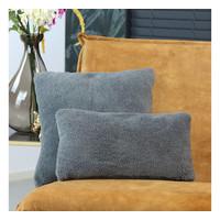 Pillow Tess teddy Grey 25 x 45 cm