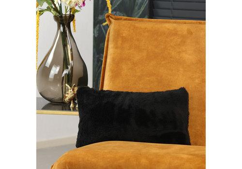 Pillow Tess teddy Black 25 x 45 cm