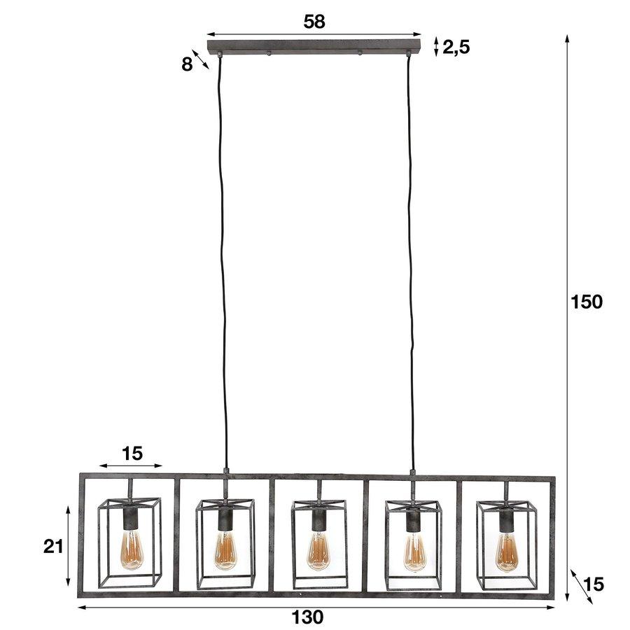 Industrial Ceiling Light Winston cube