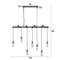 Ceiling Light Zander 7L Industrial Design