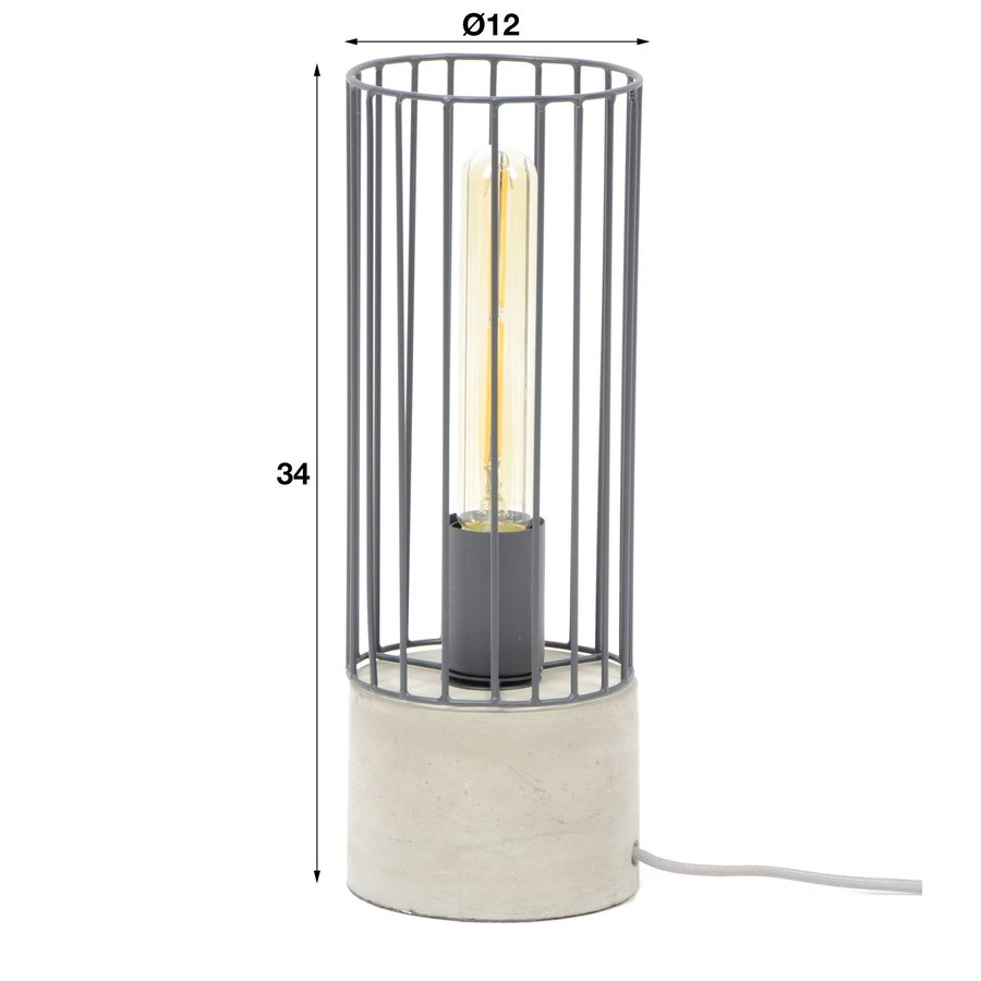 Table Lamp Bent Industrial Design