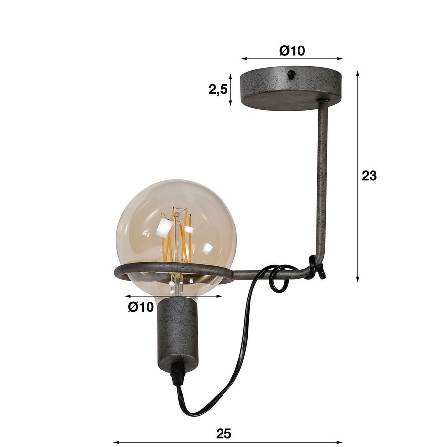 Industrial Ceiling Light Alexander ø12,5