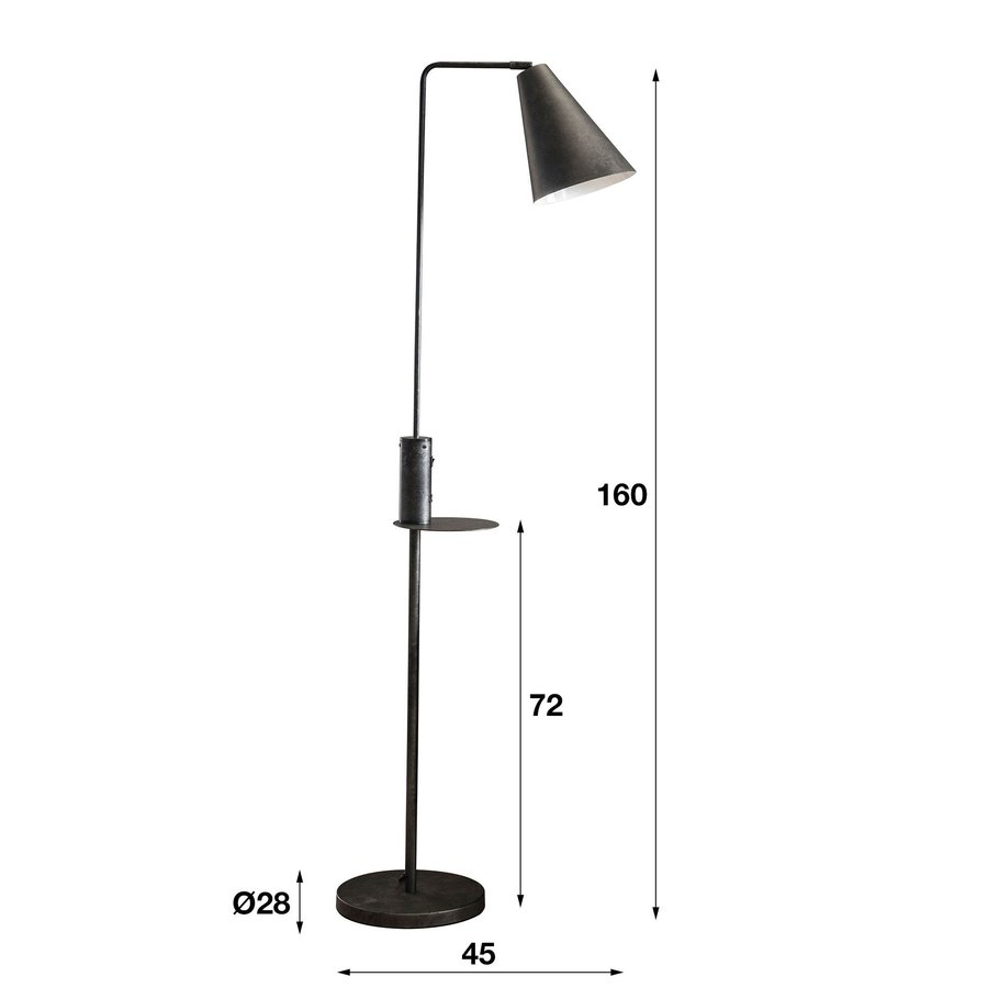 Industrial Floor lamp Techno with USB chager
