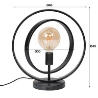 Industrial Table Lamp Silverton