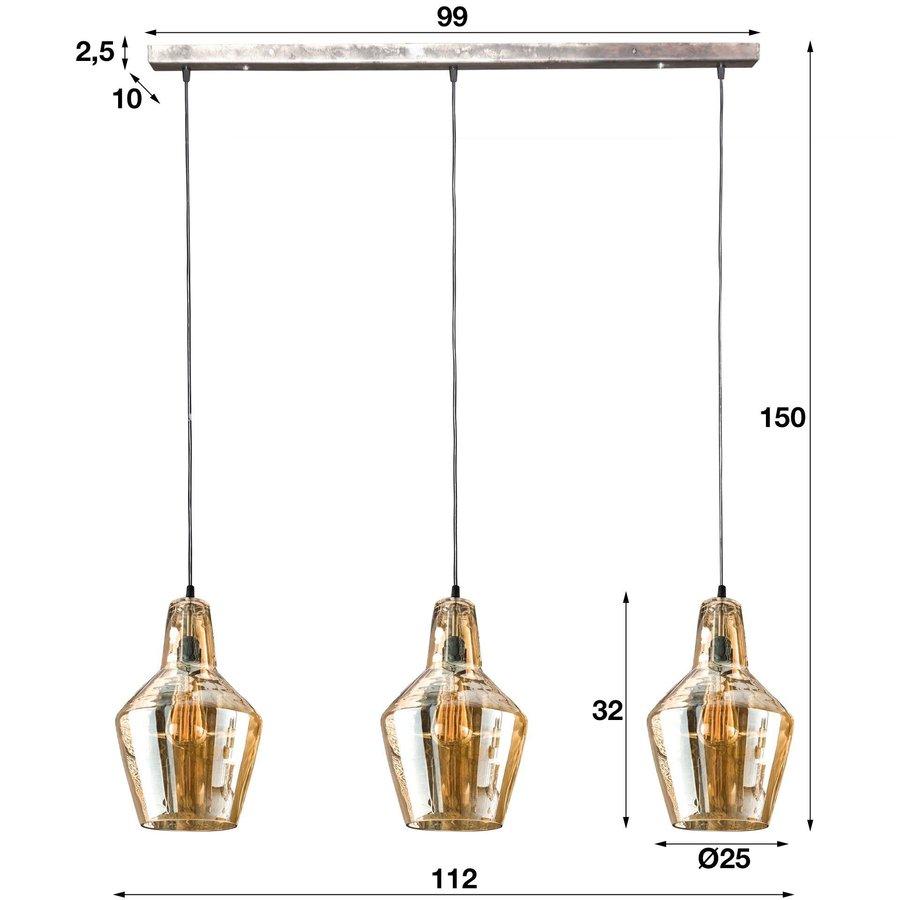 Ceiling Light Hudson cone shape 3 pendants