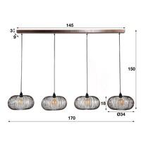 Modern Ceiling Light Holthouse 4L