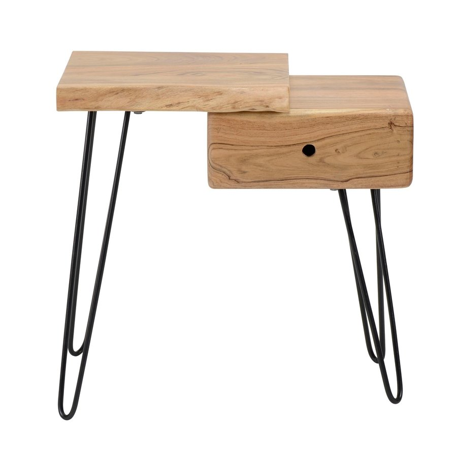 Industrial Bedside table Edge L