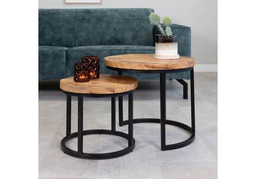 Industrial Coffee table Giro (set of 2)