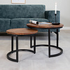 Coffee table Calla (set of 2) solid wood