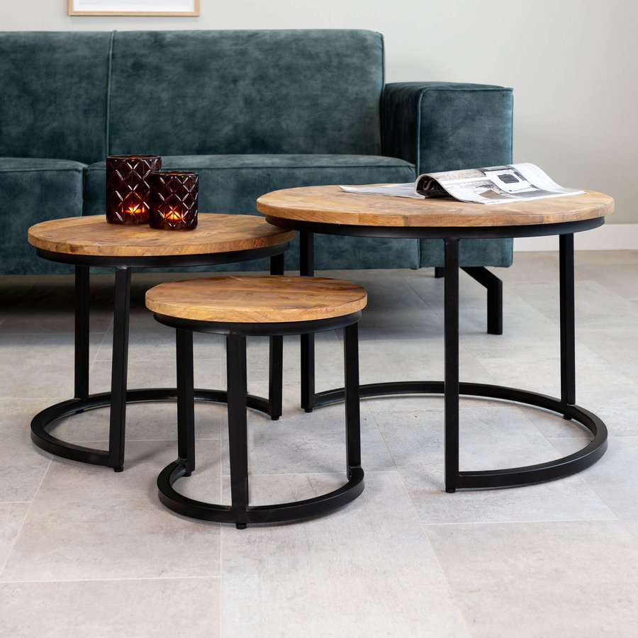 Industrial Coffee table Oxford (set of 3)