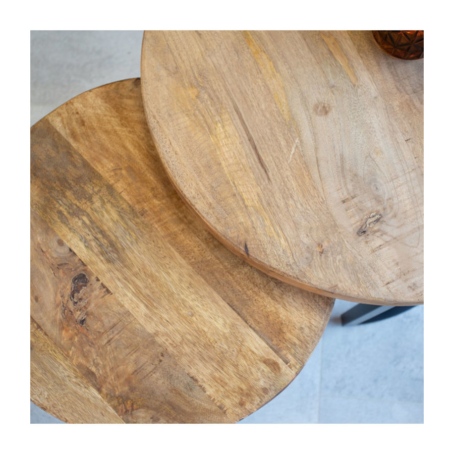 Coffee table Calla 3cm thick (set of 2) solid wood
