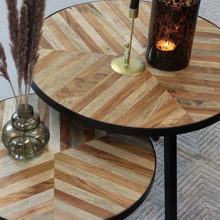 Coffee table Bronco (set of 2) herringbone