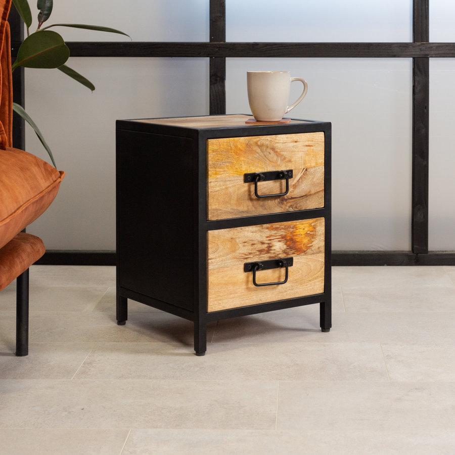 Bedside table Castor Mango Wood