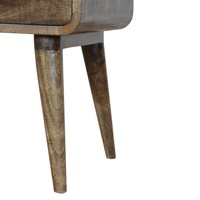 Bedside table Roundy Grey solid wood