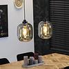 Ceiling light Amber 30 cm 2 pendants