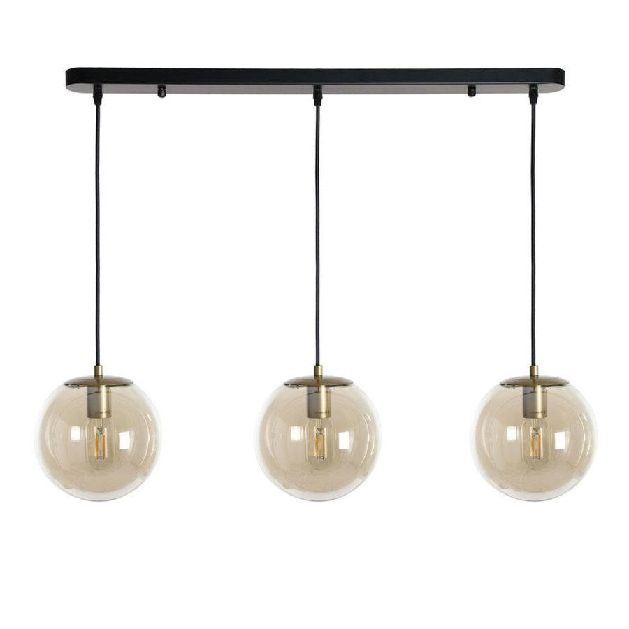 Ceiling light Maria Amber 3 pendants