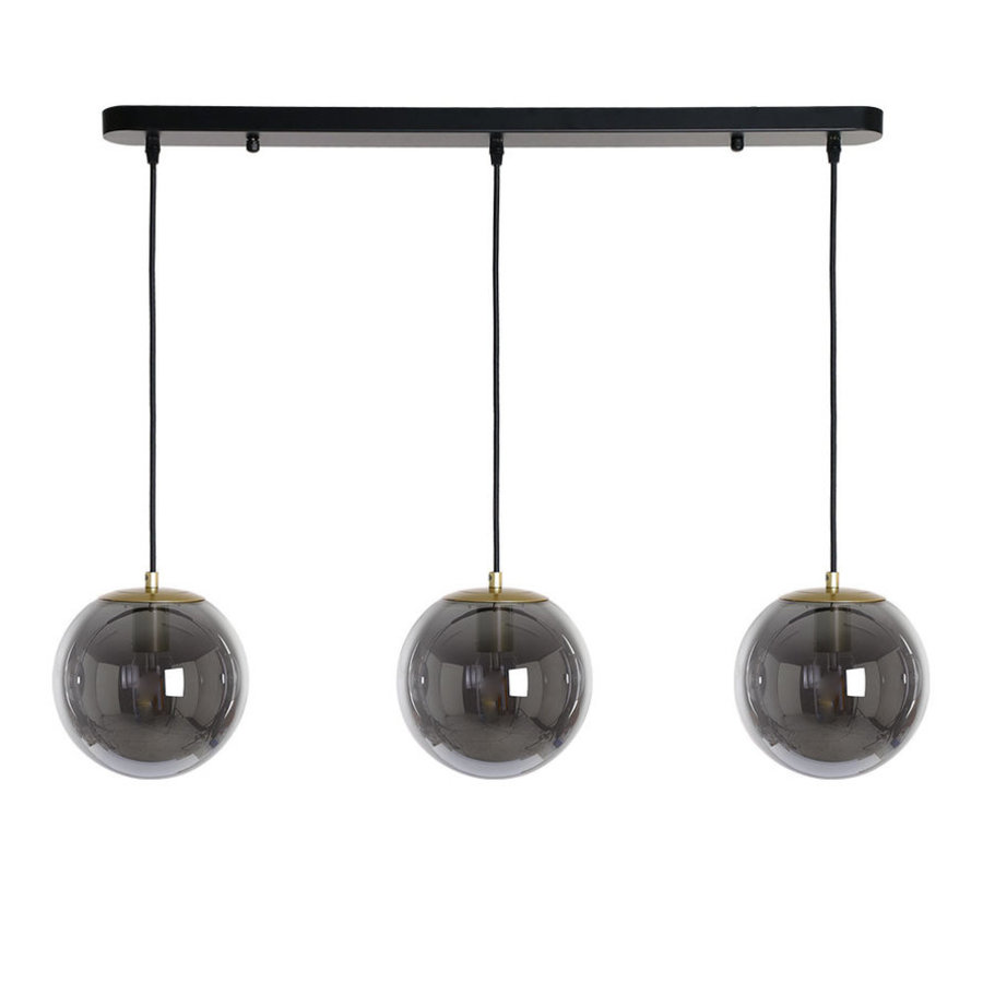 Ceiling light Maria Black 3 pendants