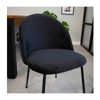 Dining Chair Evie Velvet Black
