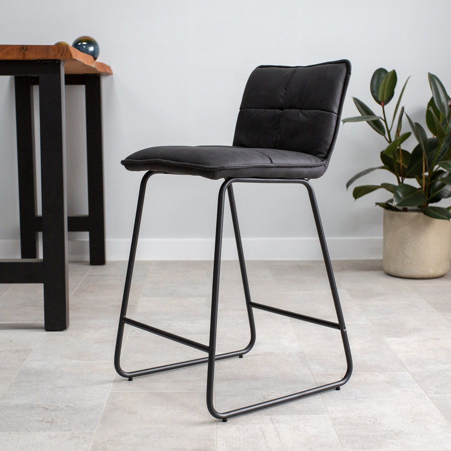 Industrial Barstool Jelle Anthracite