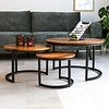 Industrial Coffee Table Cedric Set of 3