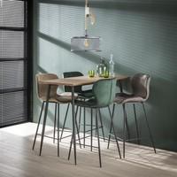 Velvet bar stool Golf Gold