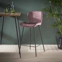 Velvet bar stool Golf Pink
