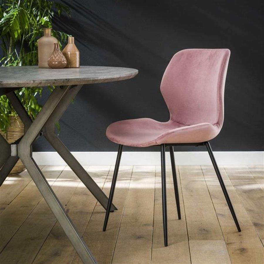 Velvet dining chair Golf Pink