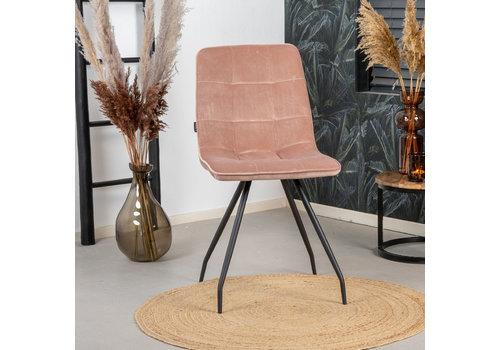 Velvet dining chair Lisa Pink
