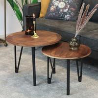 Coffee Table Jake Mango Wood - set of 2