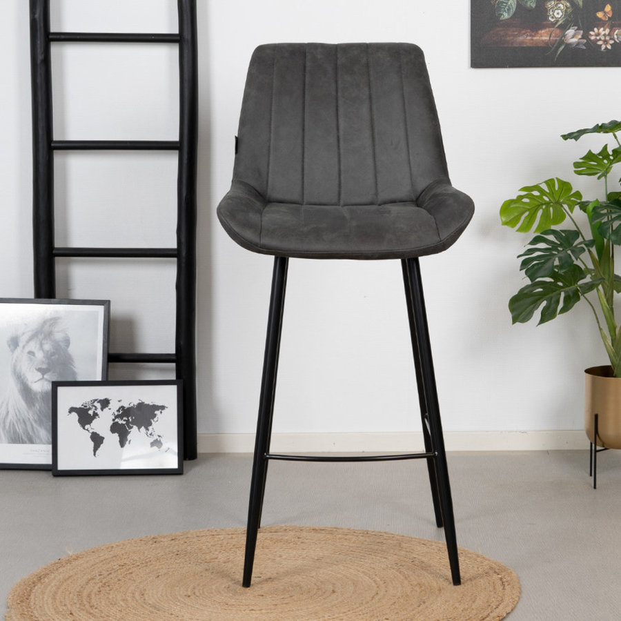 Industrial Bar Stool Brooke Anthracite