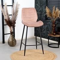 Velvet bar stool Toby Pink